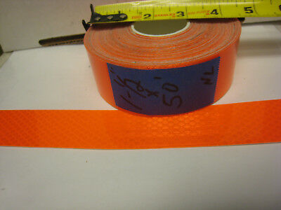 Neon Orange Reflective  Conspicuity Tape 1-12 X 50 Feet