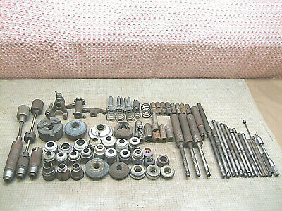 Lot Valve Grinder Arbor Spindle Extension Chuck Wheels Old Tools Used Parts Ford