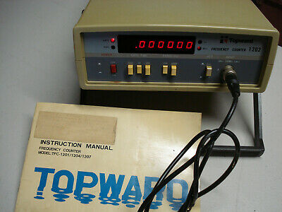 Frequency Counter Topward Model Tfc-1202 W Manual Test Equipment Ham Micro Wave