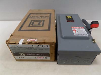 Square D Heavy Duty Safety Switch 30 Amp H-321-n Nib