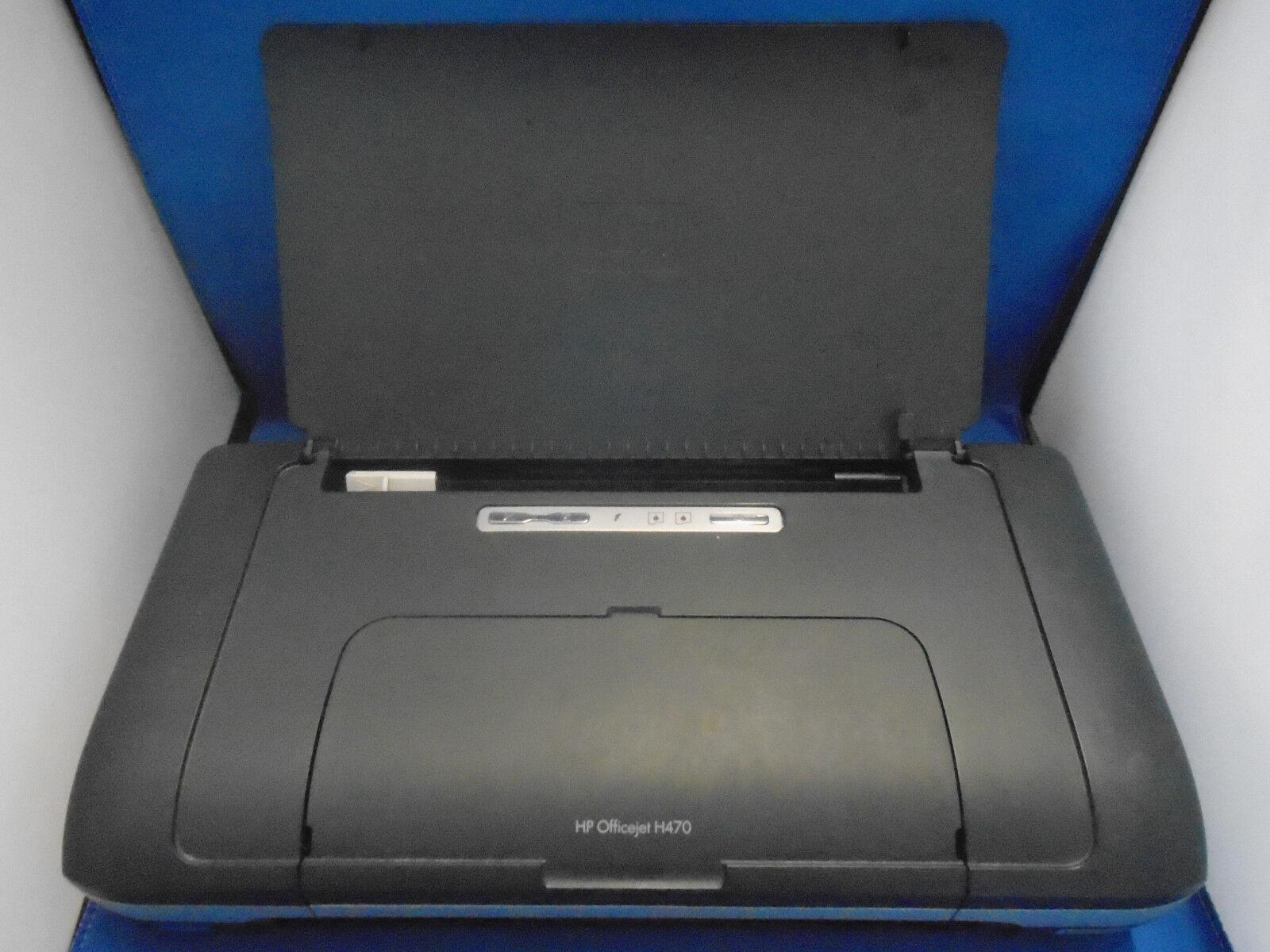 Hp officejet 470 (h470) portable usb imprimante (encre ou courant fournitures ne