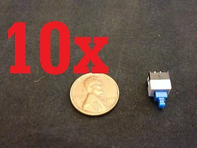 10x Push Button Latching Tactile Switch 7x7mm Blue Button 3-pin Micro Onoff B10
