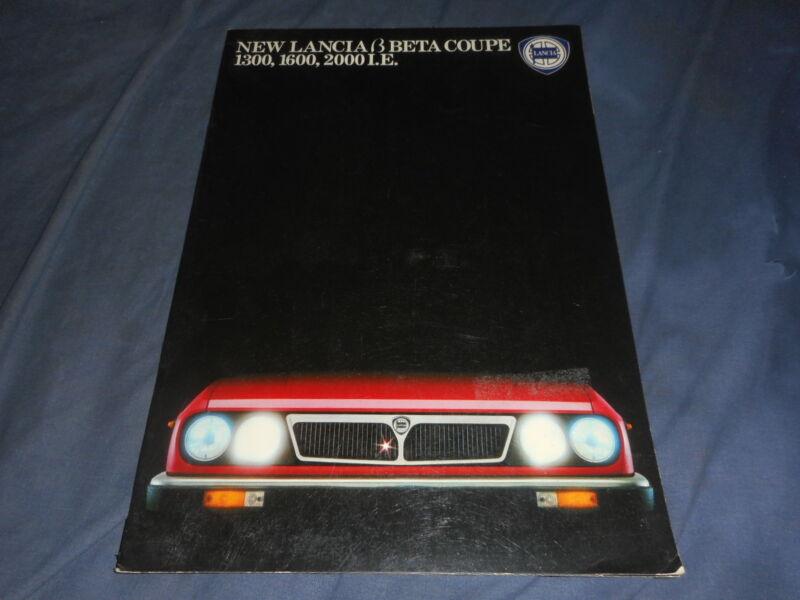 1970s Lancia Beta Coupe 1300 1600 2000LE Color Catalog Brochure Prospekt