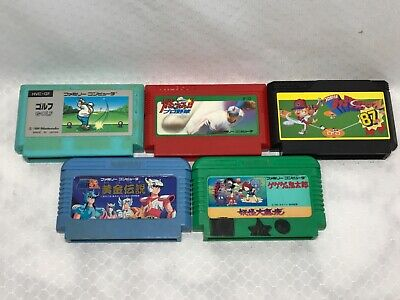 Nintendo Family Computer, Famicom LOT of 5 games US Seller 💥 TESTED 💥