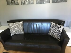 Low profile dark brown sofa for sale