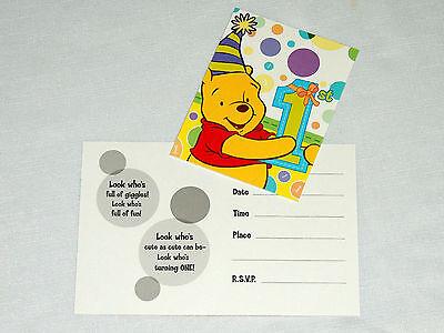 WINNIE THE POOH 1st  BIRTHDAY  GIRL or BOY     8-INVITATIONS  PARTY SUPPLIES](Winnie The Pooh 1st Birthday)