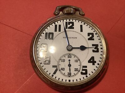 Hamilton 21 Jewel Gold Filled Case Railroad Watch It Work