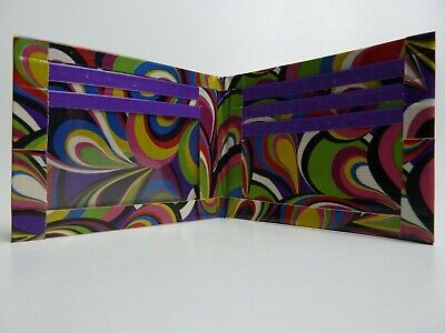 Duct Tape Wallet Multi color swirls Designs all over it  Handmade