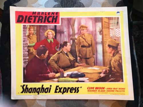 Shanghai Express 1937 RR Paramount lobby card Marlene Dietrich Warner Oland