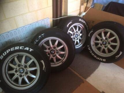 """BMW 3-Series 15"""" ALLOY rims and tyres."""