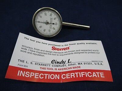 Starrett 196b1 Vertical Dial Test Indicator 0-0.20 Range New