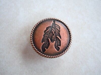 "Feather Copper 1 1/4"" Concho"