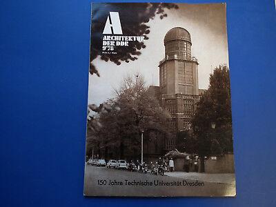 DDR Zeitschrift-Architektur der DDR Heft 9/78-Technische Universität Dresden 150