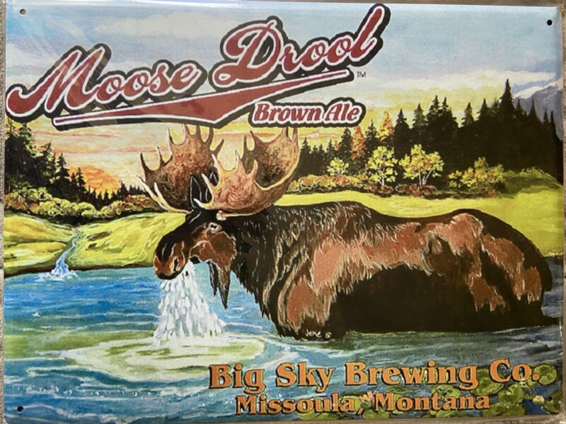 "12""x16"" Moose Drool Beer Tin Sign"