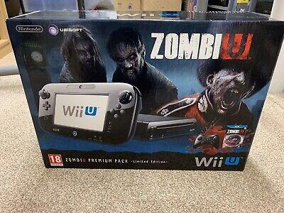 Nintendo Wii U Premium Black 32GB Console - Zombie U Limited Edition Pack - VGC