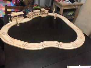 Tonka wooden train railroad set
