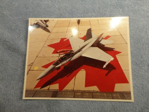 Vintage 8X10 McDonnell Aircraft Photo Unmarked Canadian Military Aircraft