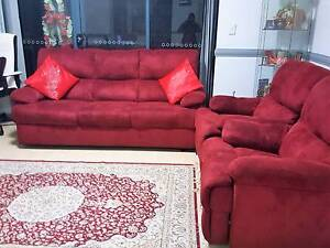 Beautiful Maroon reclining sofa for sale Westmead Parramatta Area Preview