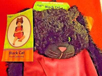 NWT Infant's Black Cat Halloween Costume Size 9-18 - Infant Black Cat Halloween Costumes