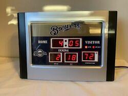 Milwaukee Brewers Digital Alarm Clock - Time - Alarm - Temperature & Date Yelich