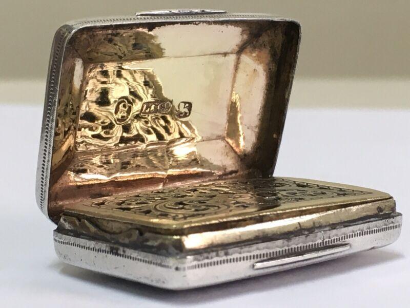 Stunning Georgian Solid Silver Vinaigrette by Ledsam & Vale Birmingham 1819