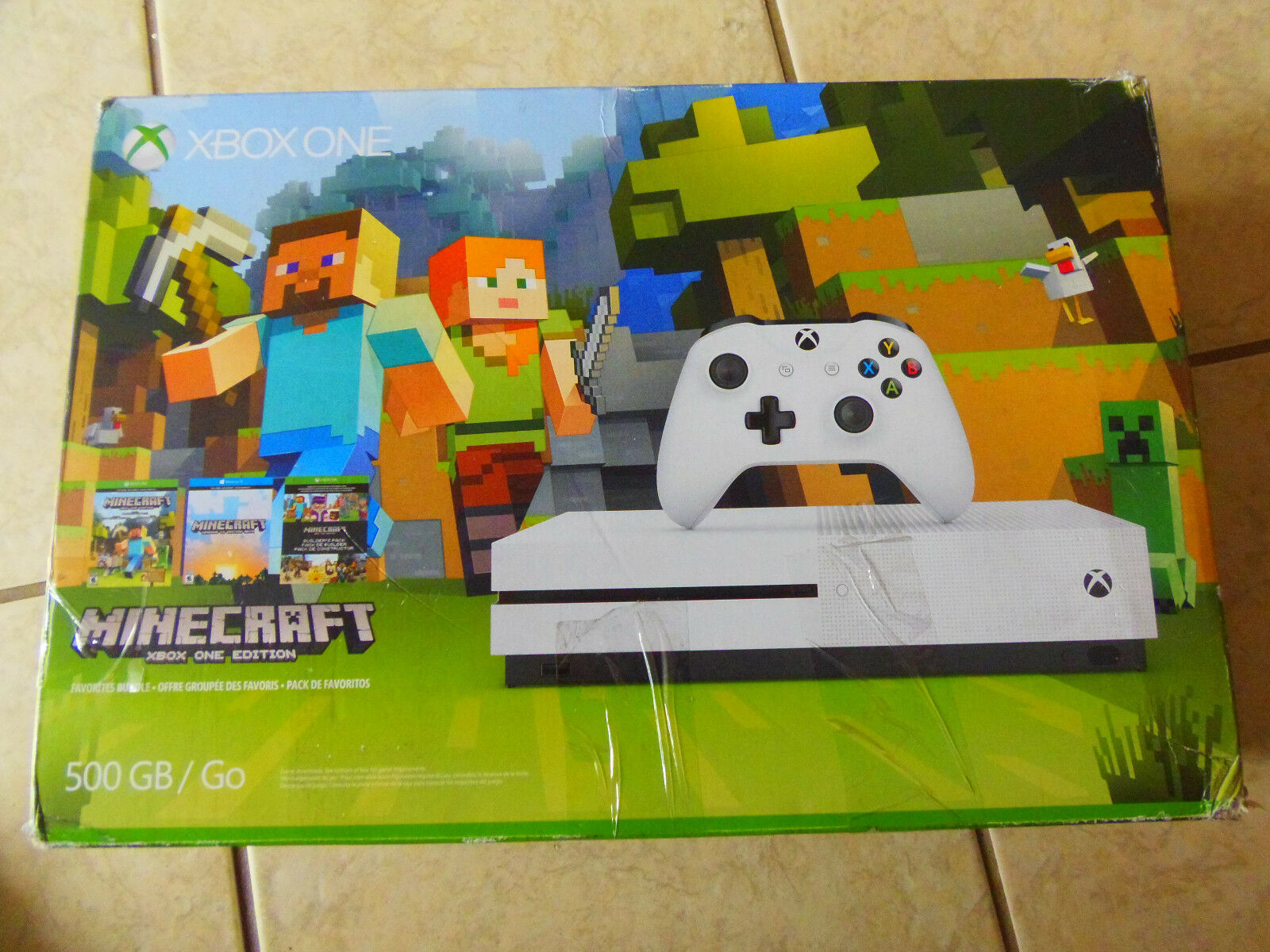 Купить Microsoft Xbox One S - Microsoft Xbox One S Minecraft Favorites Bundle 500 GB White Console