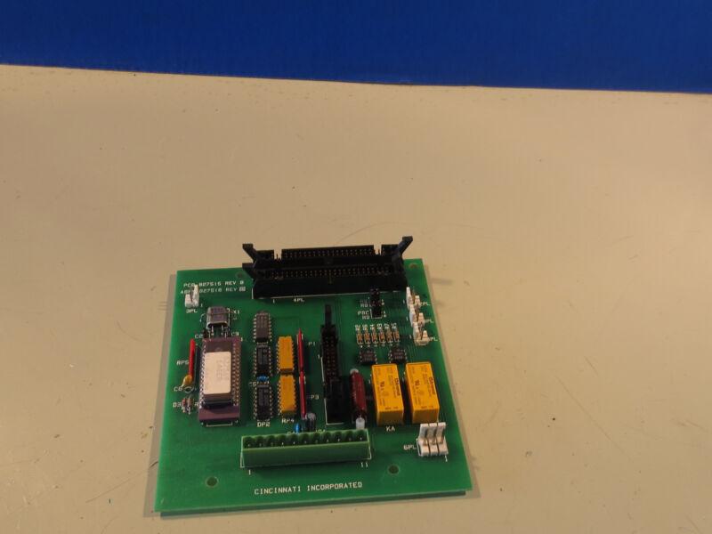 CINCINNATI INC CIRCUIT BOARD PCB 827515 REV B ASSY 827516 REV D
