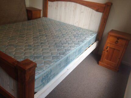 Queen Bed, Mattress, Side Tables Moriac Surf Coast Preview
