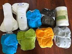 Itti Bitti Moden Cloth Nappies x 6 + Double Liners Glenwood Blacktown Area Preview