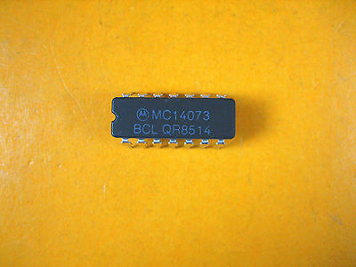 Motorola - Mc14073 - Integrated Circuit Lot Of 8
