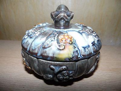Alte Keramik Deckeldose,Schmuckdose,Pralinendose,Dose,Vintage,Ø13cm