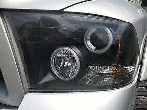 Dodge Ram halo headlights