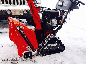 Tired of fighting with you snowblower Mint husqvarna on tracks