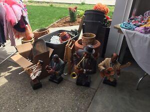 Jazz musician statues-roughly 2 feet high