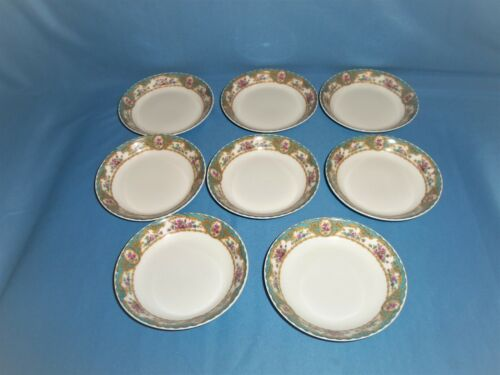 8 Antique / Vintage Limoges France Elite Works Butter Pat Dishes
