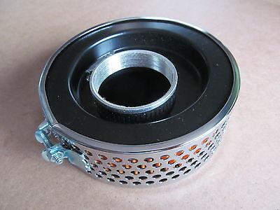 82 6432 BSA TRIUMPH PANCAKE TYPE CHROME BLACK OFFSET CONCENTRIC CARB F