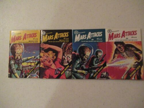 1988 POCKET COMICS MARS ATTACKS 1-4 BOOKS NEW