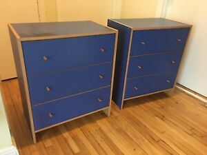 2  dressers for 35$!! 2 commodes pour 35$!!