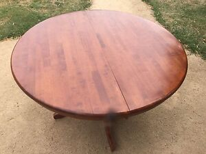Walnut stained wooden table Kyneton Macedon Ranges Preview
