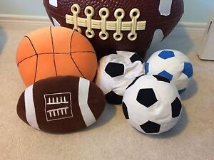 Assorted Sports Pillows - Smoke Free Home