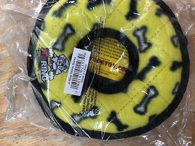 Tuffy Dog toy Jr Ring Yellow Bones- Durable - NEW