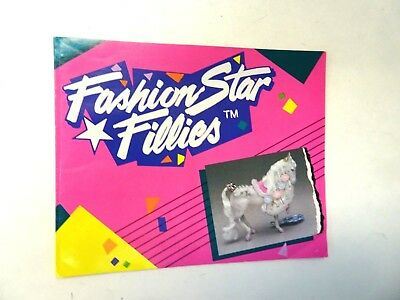 Vintage Kenner 1987 Fashion Star Fillies Promotional Booklet w/Horses & Outfits*