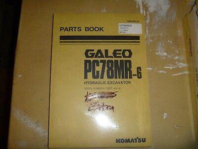 Komatsu Galeo Pc78mr-6 Hydraulic Excavator Trackhoe Crawler Parts Catalog Manual