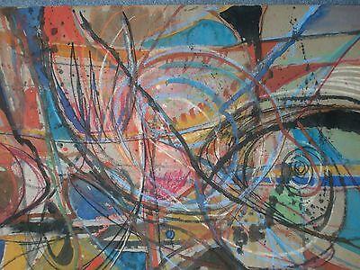 LARGE 1969 ABSTRACT STUDY - MAJOR ARTISTS STUDIO SALE -  Ben Nicholson Influence