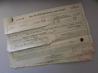 Lot of 6 x Bill of sales for ships Active / Privateer / La Fée Bleue + photo