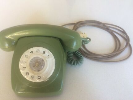 Vintage retro rotary dial telephone