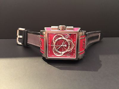 Invicta 1450 Men's S1 Red Chronograph Watch Awesome!