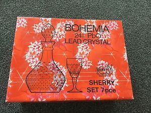 Bohemia Crystal Sherry Set NEW Hillside Melton Area Preview