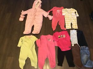 HUGE LOT BABY GIRL WINTER FALL 3/6M 6M