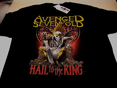AVENGED SEVENFOLD - Hail to the King - 2014 Concert TOUR T-Shirt New! NWT XXL 2X